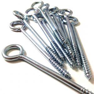 Screw Vine Eyes 75mm Zinc Plated - Packs of 10 or 100